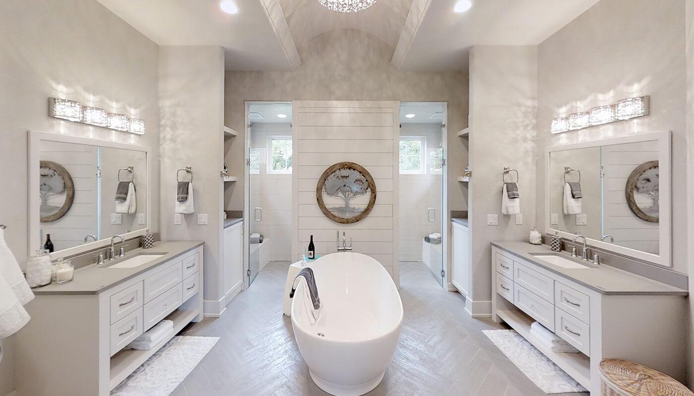 The Altissima at White Oak Conservancy Vegas Inspired Master Bath